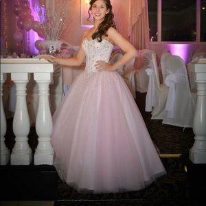 Light pink sweet sixteen/quinceanera dress